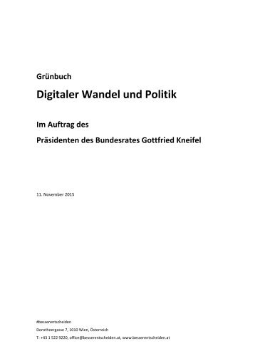 Digitaler Wandel und Politik
