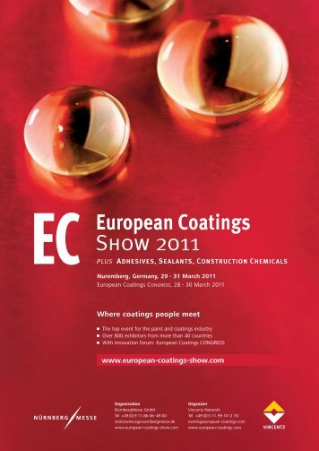 Download exhibitors list 2011 (pdf-file) - European Coatings SHOW