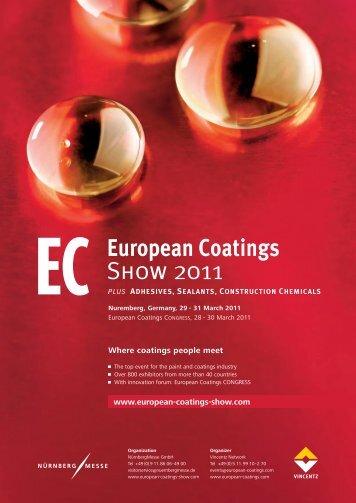Download exhibitors list 2011 (pdf-file) - European Coatings SHOW