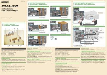 Sony STR-DA1200ES - STR-DA1200ES Guida di installazione Inglese