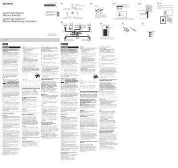 Sony SA-CS910HT - SA-CS910HT Istruzioni per l'uso Ceco