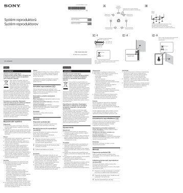 Sony SS-CS310CR - SS-CS310CR Istruzioni per l'uso Ceco