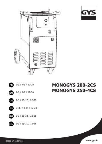 MONOGYS 200-2CS MONOGYS 250-4CS