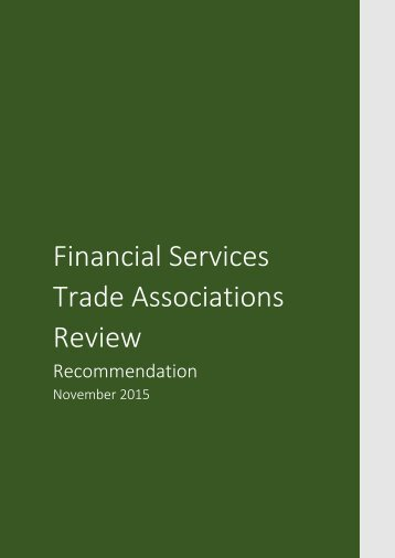 Financial Services Trade Associations Review