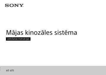 Sony HT-XT1 - HT-XT1 Istruzioni per l'uso Lettone