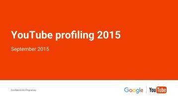 YouTube profiling 2015