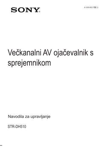 Sony STR-DH510 - STR-DH510 Istruzioni per l'uso Sloveno