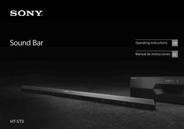 Sony HT-ST3 - HT-ST3 Istruzioni per l'uso Spagnolo