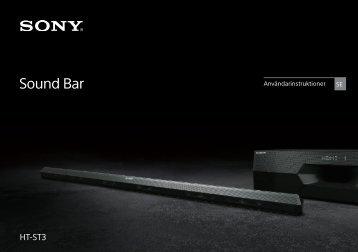 Sony HT-ST3 - HT-ST3 Istruzioni per l'uso Svedese