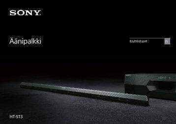 Sony HT-ST3 - HT-ST3 Istruzioni per l'uso Finlandese