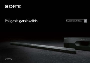 Sony HT-ST3 - HT-ST3 Istruzioni per l'uso Lituano
