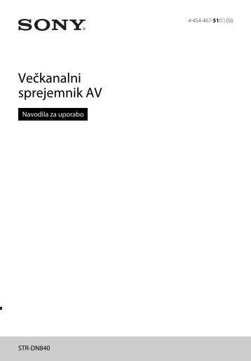 Sony STR-DN840 - STR-DN840 Istruzioni per l'uso Sloveno
