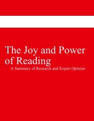 The Joy and Power of Reading