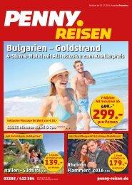 PENNY Reisen Broschüre Dezember 2015