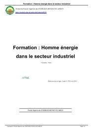 Formation  Homme énergie dans le secteur industriel