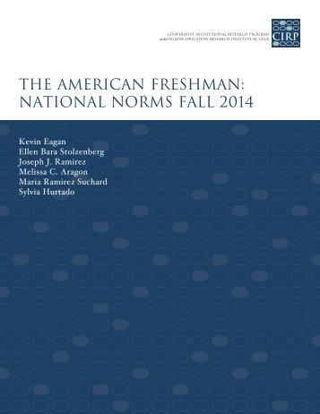 the american freshman national norms fall 2014