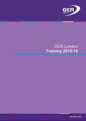 OCN London Training 2015-16