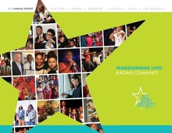 TRANSFORMING LIVES BUILDING COMMUNITY