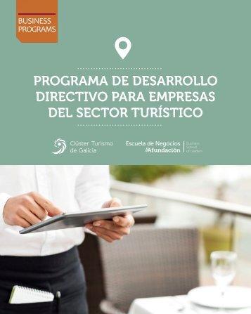 PROGRAMA DE DESARROLLO DIRECTIVO PARA EMPRESAS DEL SECTOR TURÍSTICO
