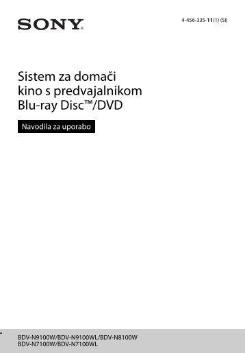 Sony BDV-N7100WL - BDV-N7100WL Istruzioni per l'uso Sloveno