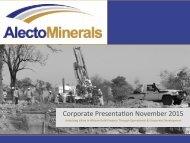 Corporate Presenta,on November 2015