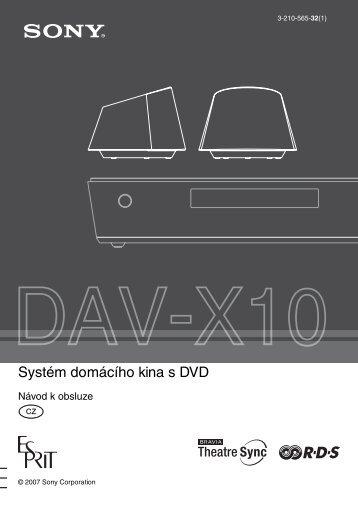 Sony DAV-X10 - DAV-X10 Istruzioni per l'uso Ceco