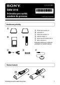 Sony DAV-X10 - DAV-X10 Istruzioni per l'uso Ceco - Page 3
