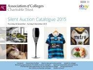 Silent Auction Catalogue 2015
