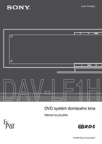 Sony DAV-LF1H - DAV-LF1H Istruzioni per l'uso Slovacco