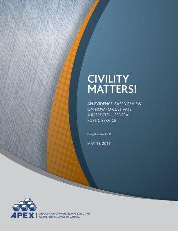 CIVILITY MATTERS!