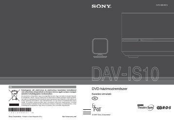 Sony DAV-IS10 - DAV-IS10 Istruzioni per l'uso Ungherese