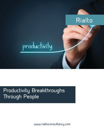 Helping You to Create the Most Productive and Engaged Organization in the World.