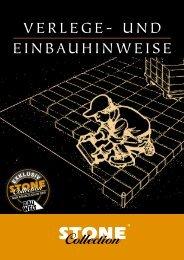 VERLEGE- und EInBAuHInWEISE - Stone Collection