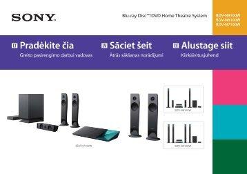 Sony BDV-N7100W - BDV-N7100W Guida di configurazione rapid Lettone