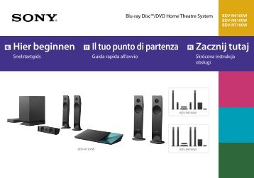 Sony BDV-N7100W - BDV-N7100W Guida di configurazione rapid Olandese