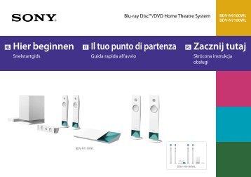 Sony BDV-N9100WL - BDV-N9100WL Guida di configurazione rapid Italiano