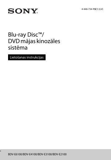 Sony BDV-E6100 - BDV-E6100 Istruzioni per l'uso Lettone