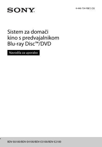 Sony BDV-E6100 - BDV-E6100 Istruzioni per l'uso Sloveno