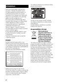 Sony BDV-E6100 - BDV-E6100 Istruzioni per l'uso Sloveno - Page 2