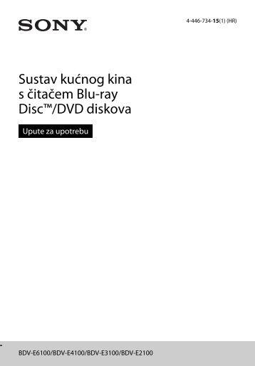 Sony BDV-E6100 - BDV-E6100 Istruzioni per l'uso Croato