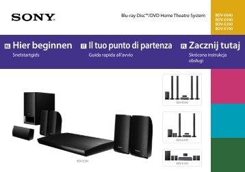Sony BDV-E190 - BDV-E190 Guida di configurazione rapid Olandese