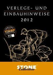 VERLEGE- und EInBAuHInWEISE 2012 - Stone Collection