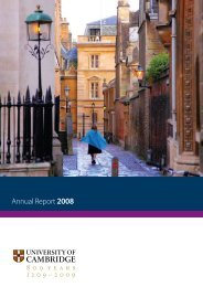 Annual Report 2008 - University of Cambridge