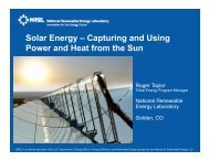 Solar Energy Heat and Power from the Sun - EERE - U.S. ...