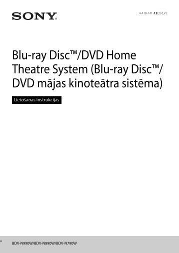 Sony BDV-N790W - BDV-N790W Istruzioni per l'uso Lettone