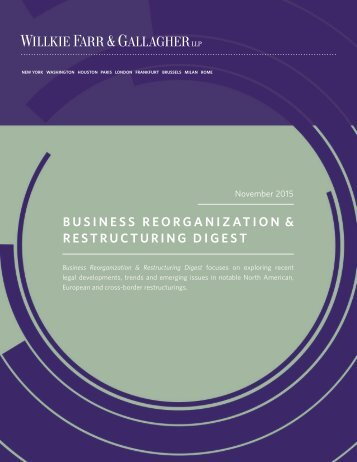 business reorganization & Restructuring Digest