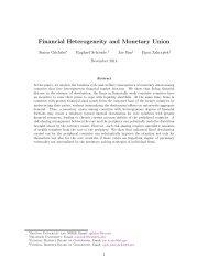 Financial Heterogeneity and Monetary Union