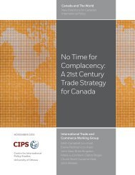 Complacency A 21st Century Trade Strategy for Canada