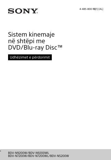 Sony BDV-N7200W - BDV-N7200W Istruzioni per l'uso Albanese