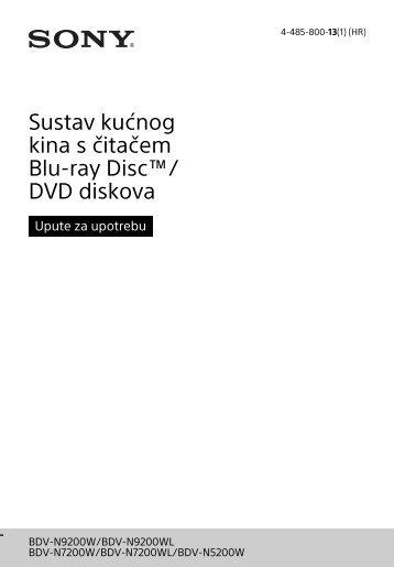 Sony BDV-N7200W - BDV-N7200W Istruzioni per l'uso Croato